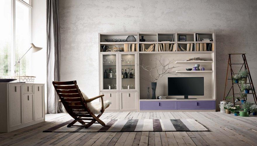 Giorno - Parete soggiorno classica ...